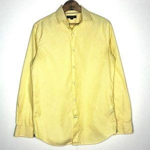 B-Rep Yellow Pinstripe Button Down Dress Shirt S